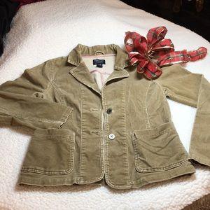 AEO camel corduroy jacket Medium silver buttons
